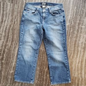 Lucky Brand classic rider crop jeans